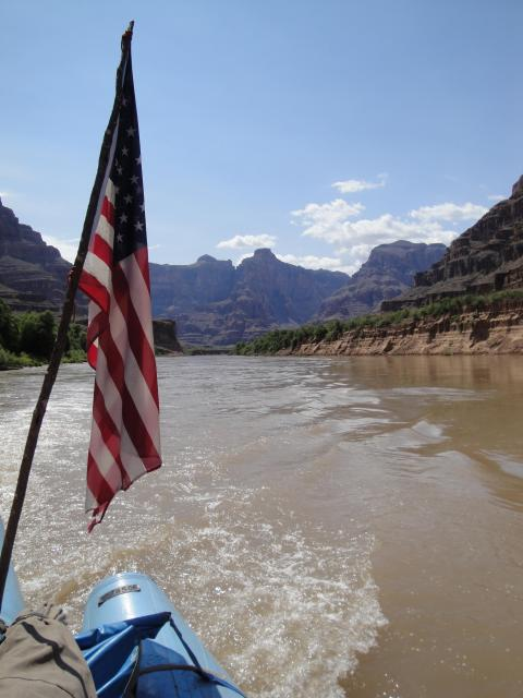 Colorado River Rafting - American Flag