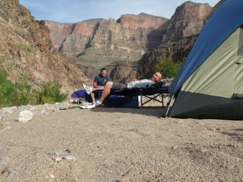 Relaxing on a Grand Canyon Rafting Adventure