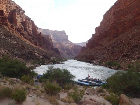 Colorado River Rafting Campsite