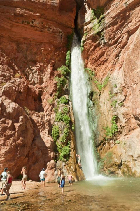 Deer Creek Falls Grand Canyon Rafting trip with Western River Expeditions