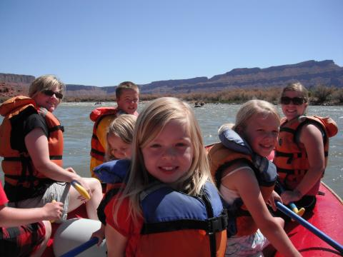 Family Rafting Trips with Western River in Moab Utah