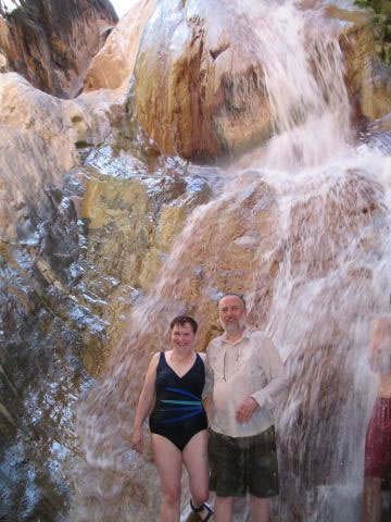 Grand Canyon Rafting Trip - Travertine Waterfall