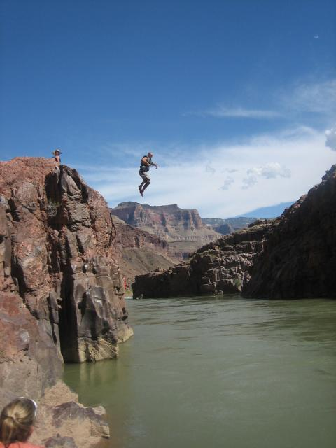 Jumping into the Colorado River
