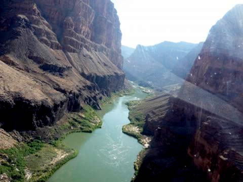 Grand Canyon Colorado River View from Helicopter