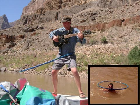Hula Hooping while playing guitar in the Grand Canyon