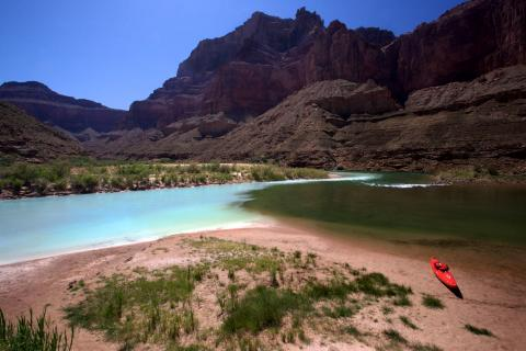 Little Colorado River Blends with Colorado River