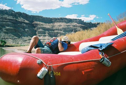Cataract Canyon Rafting Trip - Relaxing on the Raft
