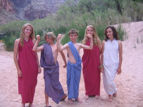 Family Rafting Trip in Grand Canyon - Toga Time