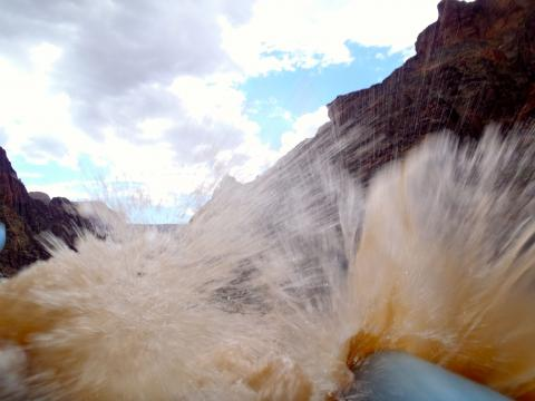 Horn Creek Rapid in Grand Canyon