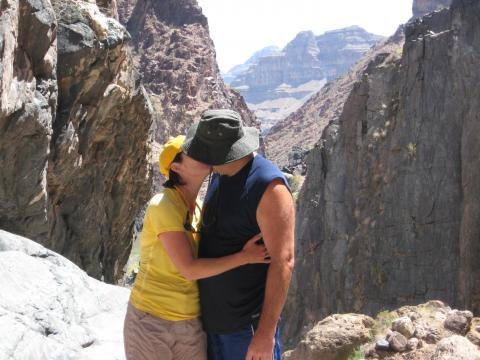 Kissing in the Grand Canyon
