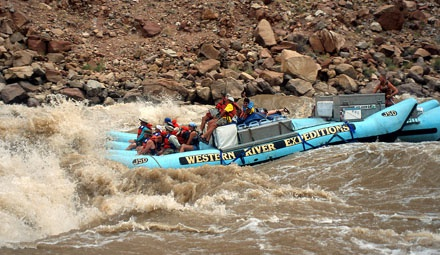Whitewater Rapids in the Grand Canyon