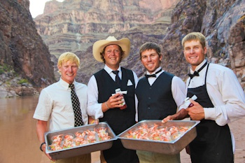Delicious meals on the Colorado River