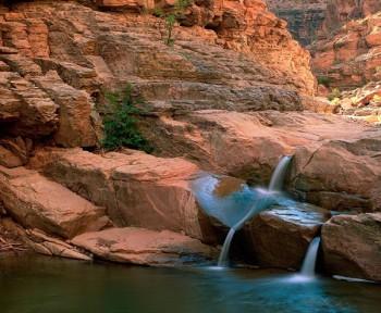 Triplet Falls & Dark Canyon, Glen Canyon National Recreation Area, Utah