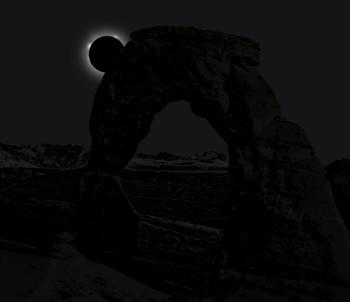 Delicate Arch Eclipse 2045