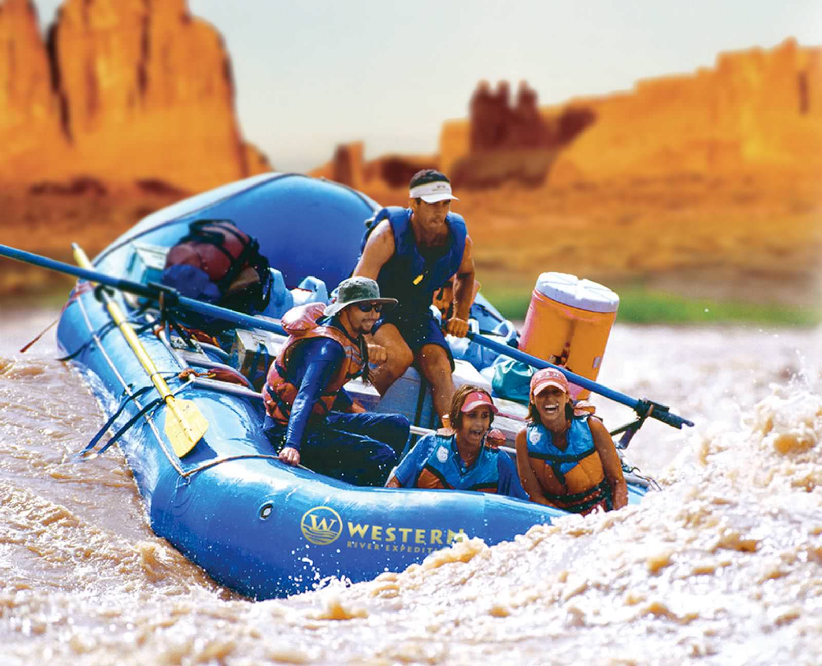 Rafts in Cataract Canyon