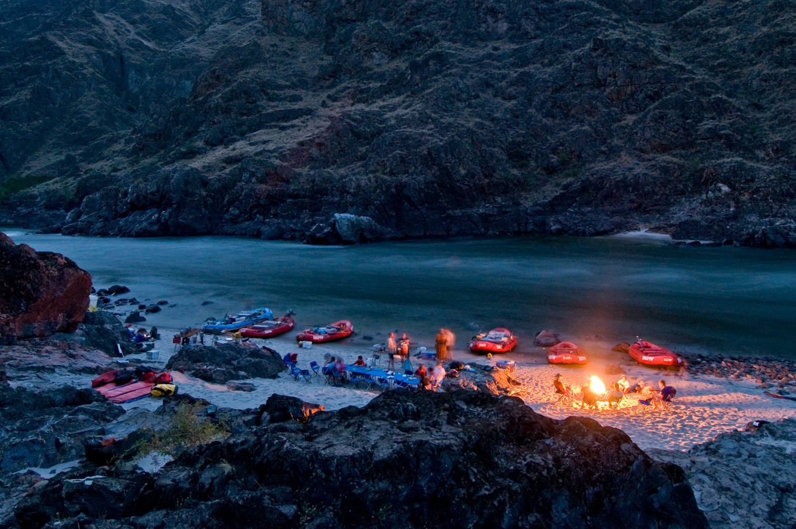 Camping On The Lower Salmon River