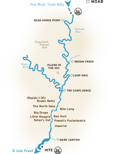 Cataract Canyon River Map
