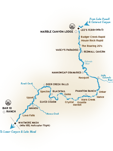 Grand Canyon River Map