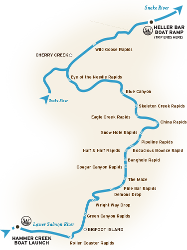 Lower Salmon River Map