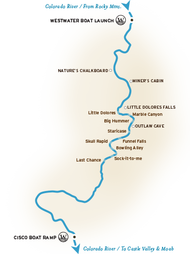 Westwater Canyon River Map