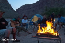 Campfire in Cataract Canyon
