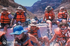 Smiles on a J-Rig Raft in Grand Canyon