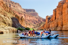 Floating with the river in Grand Canyon