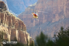 Helicopter into Grand Canyon