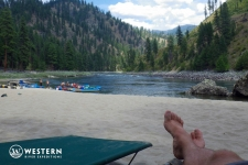 Relaxing on the on the Main Salmon River
