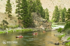 Flotilla of rafts on the Middle Fork